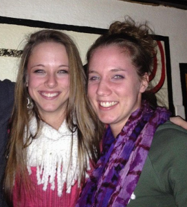 Sophia (left) with Sara, her Student Leader